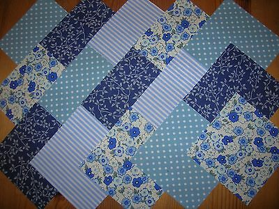 """40 x 4"""" CHARM PACK BLUE 100% COTTON PATCHWORK/QUILTING/CRAFTS  BUE"""
