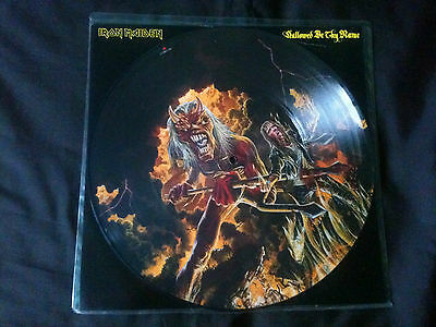 """Iron Maiden - Hallowed Be Thy Name 12"""" Picture Disc UK 1993 VG+/VG+"""