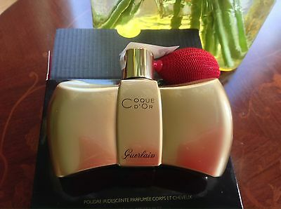 GUERLAIN Coque D'OR PERFUMED SHIMMER POWDER  FOR FACE BODY & HAIR NIB