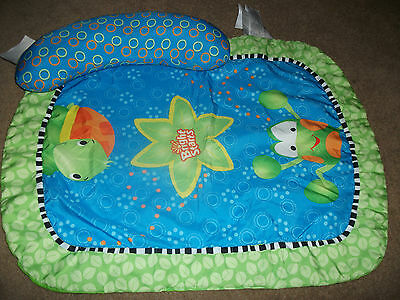 Bright Starts 2 Pc Baby Play Mat With Tummy Prop Pillow