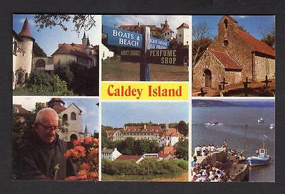 """CALDEY ISLAND""  Multi View Postcard Wales  Pembrokeshire #2"