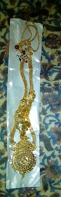 Gold Plated Indian Jewellery Necklace Earring And Tikka Set