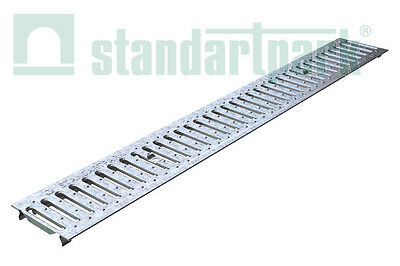 "Standartpark - Galvanized Stamped Steel Grate for 4"" inch trench drain."