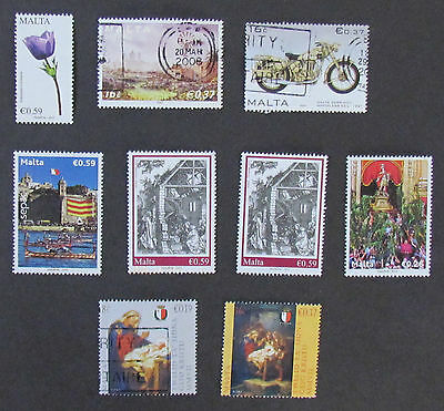 Malta Postage Stamps 9 used unmounted stamps