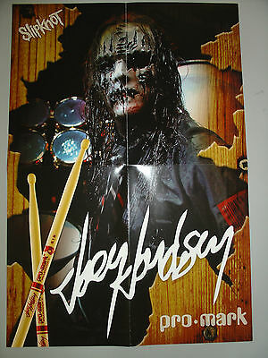 New Joey Jordison Pro-Mark Promotional Poster! Cool Poster!!