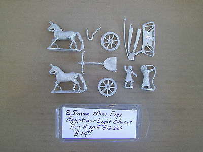 25mm Mini Figs Ancient  Egyptians Light Chariot