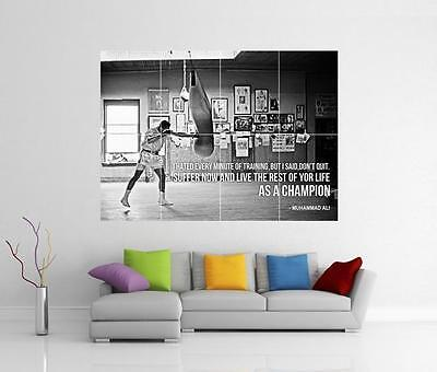 Muhammad Ali Champion Quote Canvas Boxing Gym Giant Art Photo Print Poster