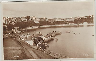 Early Postcard -Tenby - Pembrokeshire  -Real Photo