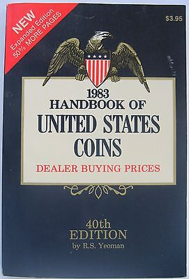 """1983 """"BLUEBOOK""""  40th  EDITION BY R. S. YEOMAN"""