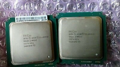 Matched pair Xeon E5-2695 2.4ghz 12 core