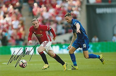 Wayne Rooney Manchester United Original Hand Signed Photo 12x8 With COA