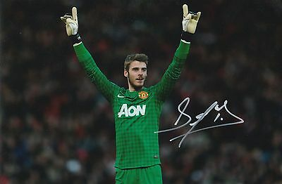 David De Gea Manchester United Original Hand Signed Photo 12x8 With COA