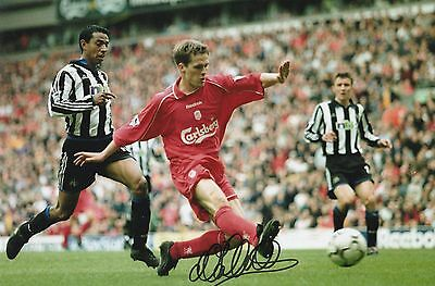 Michael Owen Liverpool Original Hand Signed Photo 12x8 With COA