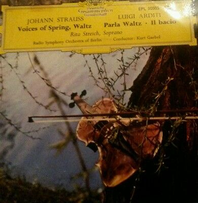 johann strauss voices of spring , waltz 7inch vinyl