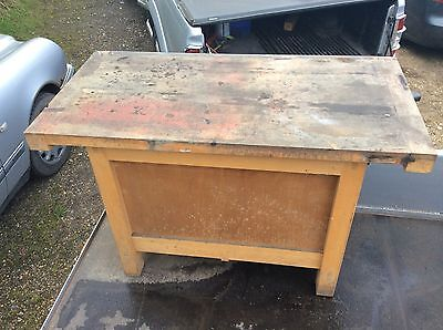 Emir solid wooden wood work woodworking Bench table ex college