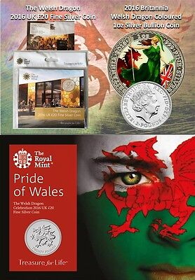 3 x Welsh Royal Mint Silver Coin Collection