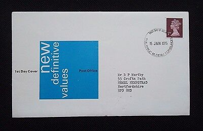 Stamps 1975 Royal Mail.first Day Cover  New Definitive Values Issue