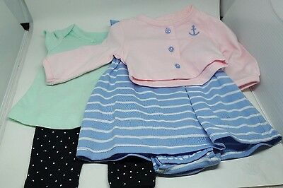 Lot of 2 Piece Sets Carters Baby Clothes Girls 0-3 Months (2 Sets)