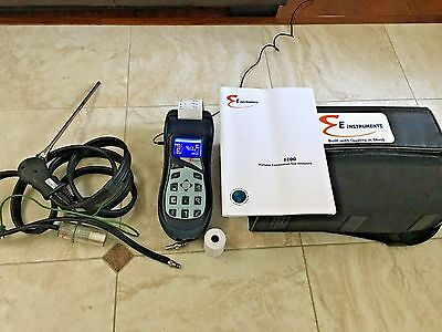 E INSTRUMENTS BTU1100 COMBUSTION  GAS  ANALYZER w/Printer, Case, Manual, adpater
