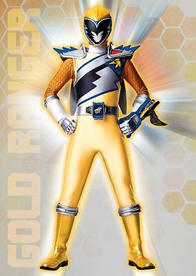 Unofficial GOLD RANGER DINO CHARGE (8) *A3* print Poster Power Rangers ninja