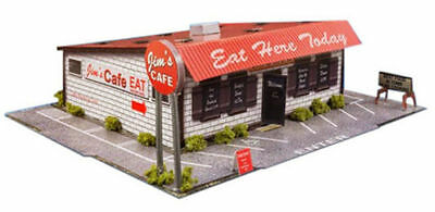 """BK 4320 1:43 Scale """"Diner"""" Photo Real Scale Building Kit Innovative Hobby Supply"""