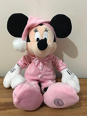 Minnie Mouse Exclusive Disney Store Plush Soft Toy In PJs Pyjamas