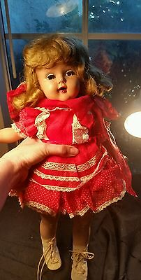 "Vintage ice skating doll 50's 20"" unmarked"