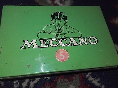 Meccano Old Tin Of Nuts And Bolts