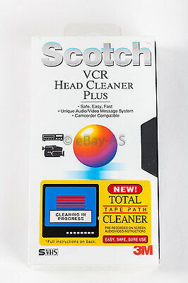 Scotch 3M VCR Head Cleaner Plus VHS New Sealed!