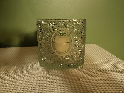 Avon Triangle Glass Candle Holder