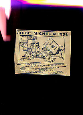 pub de revue 1906 GUIDE MICHELIN