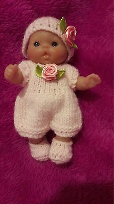 """Hand Knitted Dolls Clothes for 5"""" Berenguer Doll"""
