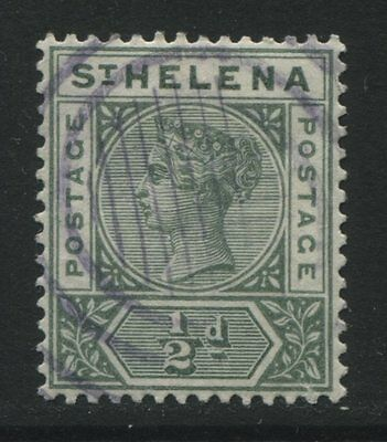 St Helena: 1897 Queen Victoria ½d stamp - green SG46 Used AC279