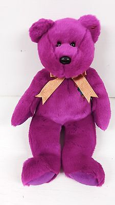 14 Inch Purple Ty Beanie Buddies Collection 2000 Celebration Bear
