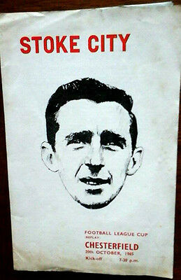Stoke V Chesterfield 20/10/1965 League Cup