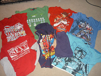 Boys Bundle 7-8 years Next George T-shirts Transformers Doctor Who Spiderman