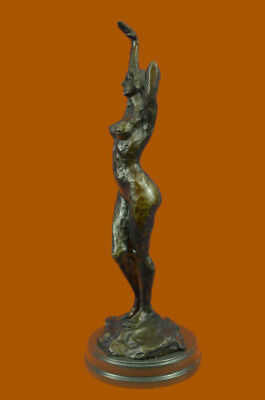 Original Aldo Vitaleh Abstract Nude Female Bronze Marble Sculpture Figure Decor