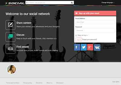 Social Networking  Website for Sale