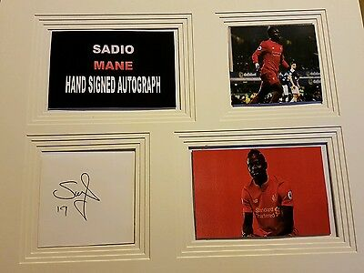 Sadio mane 16x12 hand signed autograph display
