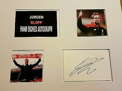 jurgen klopp 16x12 hand signed autograph display