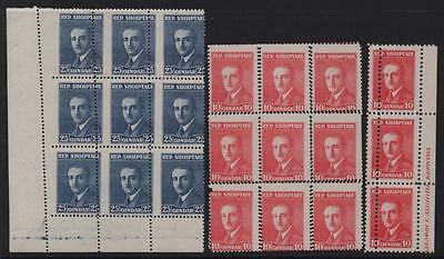 ALBANIA: Collection of Unused Misperf Examples - Blocks and Strip (6330)