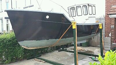Colvic 21ft GRP Fishing Boat project perkins diesel inboard engine liverpool tlc