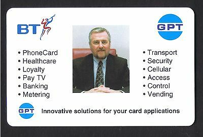 GPT Business card £1 mint chip . Ian A.Wilson Managing Director Payphone Systems