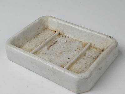 Antique 1890s Ironstone China Soap Dish Signed Stamp on Bottom OLD