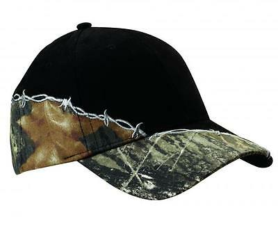 12 Camo Hats with Barbed Wire EmbroideredFree4rCompany -Structured, mid-profile