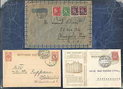 Finland Ph,fine&beautiful Lot Of 3 Cover,card,and Postal Card,frank,canc,adv