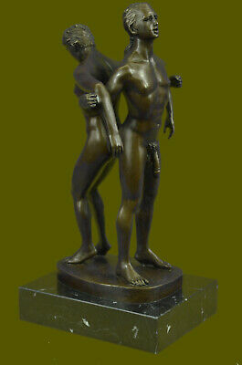 Collectible Bronze Sculpture Statue Gay Art Collector Edition Nude Men Male Gay