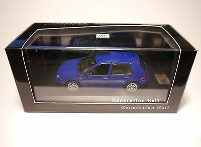 Volkswagen VW Golf 4 IV Generation GTi blau blu bleu blue, Minichamps 1:43 boxed