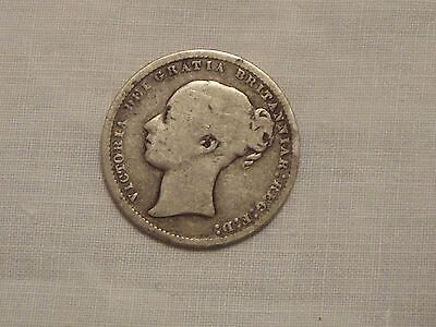 Queen Victoria Young Head Silver Shilling 1874