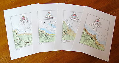 SOUVENIR  CHARTS of PORTS on the North COAST of SOMERSET and DEVON